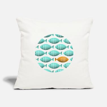 Against The Flow Individual Fish Swims Against the Flow - Pillowcase 17,3'' x 17,3'' (45 x 45 cm)