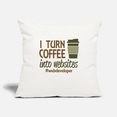 Website I turn coffee into websites - Pillowcase 17,3'' x 17,3'' (45 x 45 cm)