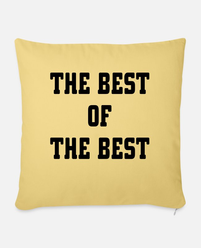The Best Of Pillow Cases - The Best Of The Best - Pillowcase 17,3'' x 17,3'' (45 x 45 cm) washed yellow
