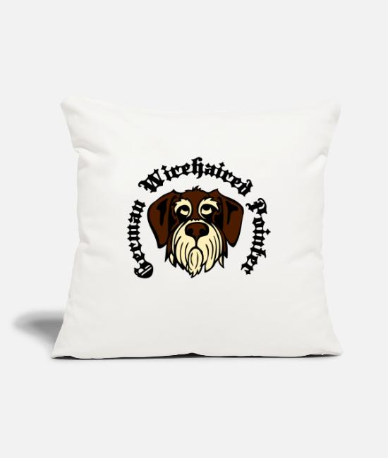 Gwp Pillow Cases - wirehaired_pointer_face_3c - Pillowcase 17,3'' x 17,3'' (45 x 45 cm) natural white