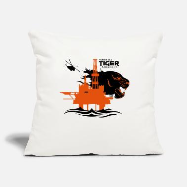 Oil Rig Platform North Sea Tiger Oil Rig Platform Aberdeen - Pillowcase 17,3'' x 17,3'' (45 x 45 cm)