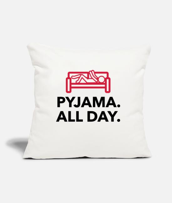 Bed Pillow Cases - Throughout the day in your pajamas! - Pillowcase 17,3'' x 17,3'' (45 x 45 cm) natural white