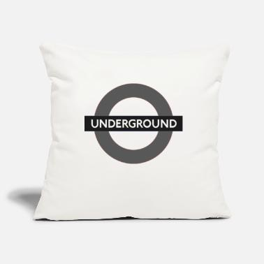 Underground Underground sign - Pillowcase 17,3'' x 17,3'' (45 x 45 cm)