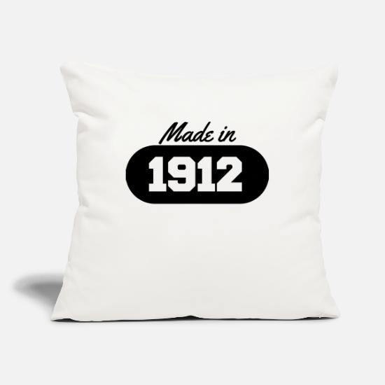 Date Pillow Cases - Made in 1912 - Pillowcase 17,3'' x 17,3'' (45 x 45 cm) natural white