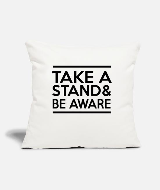Stand Pillow Cases - Take a Stand & Be Aware - Pillowcase 17,3'' x 17,3'' (45 x 45 cm) natural white