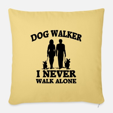 Dog Dog walker - Pillowcase 17,3'' x 17,3'' (45 x 45 cm)
