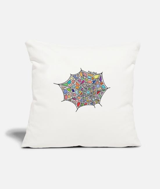 Canvas Pillow Cases - Spider web - Pillowcase 17,3'' x 17,3'' (45 x 45 cm) natural white