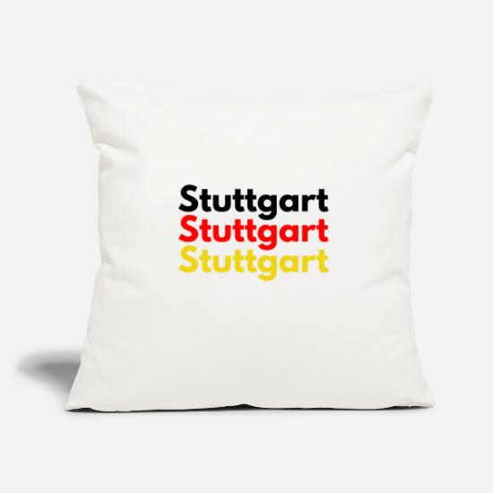 Stuttgart Pillow Cases - Stuttgart Stuttgart Stuttgart Germany Design - Pillowcase 17,3'' x 17,3'' (45 x 45 cm) natural white