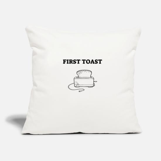 Cheeseburger Pillow Cases - First Toast Bread Bread love toaster - Pillowcase 17,3'' x 17,3'' (45 x 45 cm) natural white