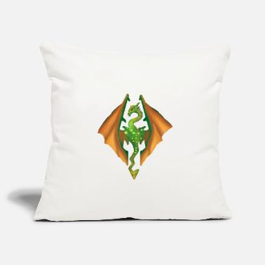Skyrim green dragon skyrim - Pillowcase 17,3'' x 17,3'' (45 x 45 cm)