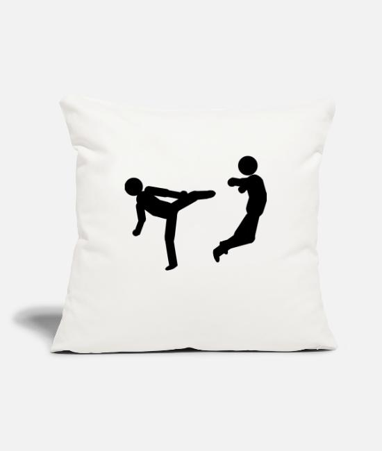 Karate Pillow Cases - slapping - Pillowcase 17,3'' x 17,3'' (45 x 45 cm) natural white
