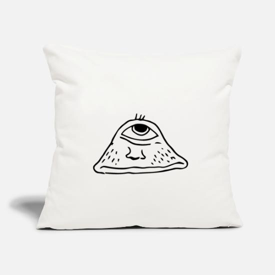 Gift Idea Pillow Cases - A disgusting black monster - Pillowcase 17,3'' x 17,3'' (45 x 45 cm) natural white
