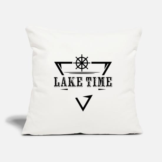 Birthday Pillow Cases - Lake sea oar steering boat summer gift idea - Pillowcase 17,3'' x 17,3'' (45 x 45 cm) natural white
