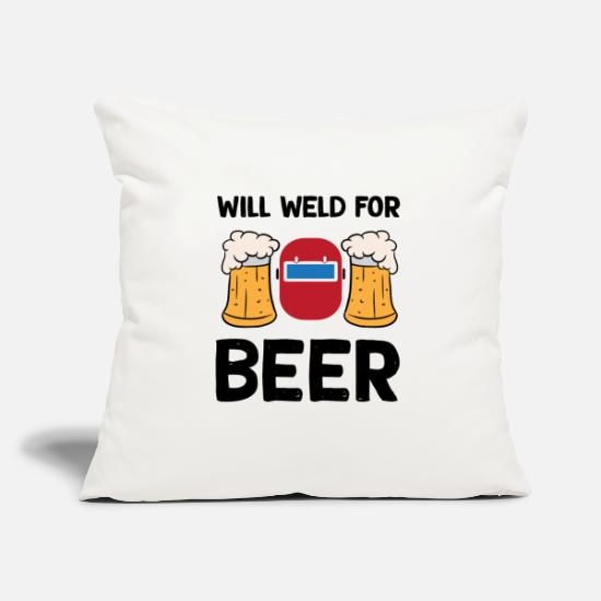 Gift Idea Pillow Cases - Welding for beer welder worker T-shirt - Pillowcase 17,3'' x 17,3'' (45 x 45 cm) natural white