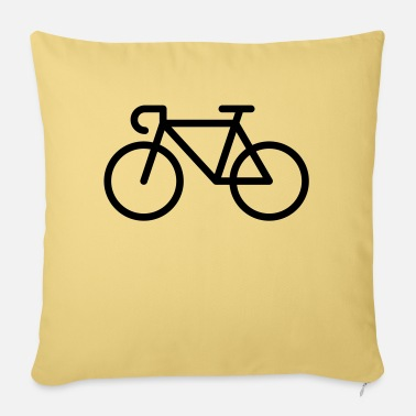 Pictograph Racing Bicycle / Bike (Icon / Pictogram) - Pillowcase 17,3'' x 17,3'' (45 x 45 cm)