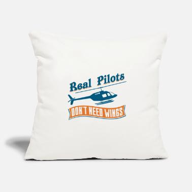 Propeller Real Pilots Don't Need Wings - Pillowcase 17,3'' x 17,3'' (45 x 45 cm)