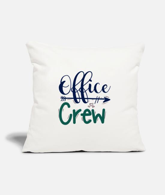 Office Pillow Cases - office crew office team - Pillowcase 17,3'' x 17,3'' (45 x 45 cm) natural white