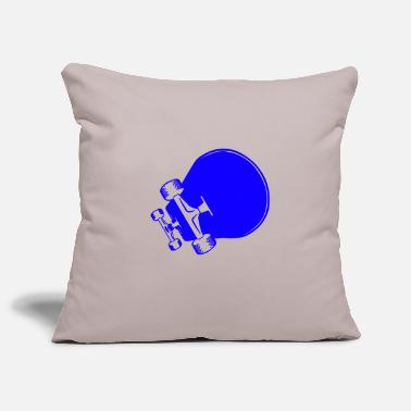 Sleek A sleek blue skateboard - Pillowcase 17,3'' x 17,3'' (45 x 45 cm)