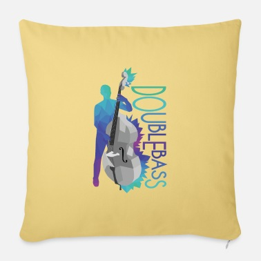 Fiddle double bass - Pillowcase 17,3'' x 17,3'' (45 x 45 cm)