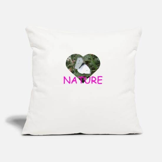 Nature Pillow Cases - Butterfly Butterfly - Pillowcase 17,3'' x 17,3'' (45 x 45 cm) natural white
