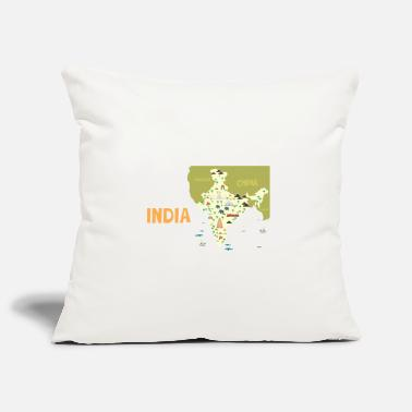 India India map, India - Pillowcase 17,3'' x 17,3'' (45 x 45 cm)