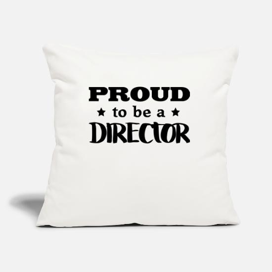 Supervisor Pillow Cases - director proud to be - Pillowcase 17,3'' x 17,3'' (45 x 45 cm) natural white