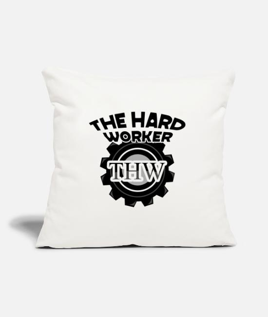 Design Pillow Cases - twh the hard worker motivational design shirt gifts s - Pillowcase 17,3'' x 17,3'' (45 x 45 cm) natural white