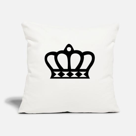Symbol  Pillow Cases - Crown (crown) 06 - Pillowcase 17,3'' x 17,3'' (45 x 45 cm) natural white