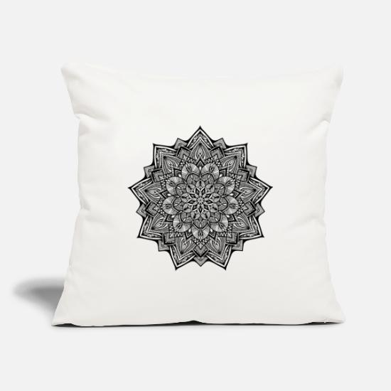 Homedecor Pillow Cases - Elements Earth Black - Pillowcase 17,3'' x 17,3'' (45 x 45 cm) natural white