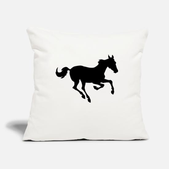 Western Pillow Cases - Racehorse - Pillowcase 17,3'' x 17,3'' (45 x 45 cm) natural white