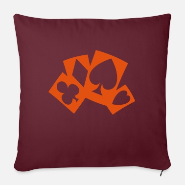 Poker Cards poker cards - Pillowcase 17,3'' x 17,3'' (45 x 45 cm)