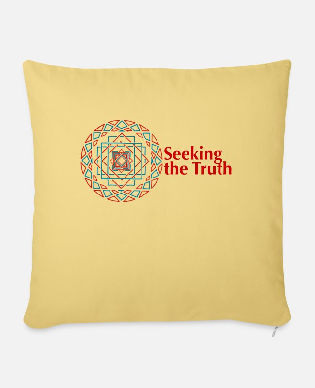 Wisdom Pillow Cases - Seeking the Truth - Pillowcase 17,3'' x 17,3'' (45 x 45 cm) washed yellow