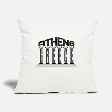 Athens Athens Acropolis Greece Typography Souvenir - Pillowcase 17,3'' x 17,3'' (45 x 45 cm)