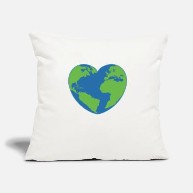 Earth Day heart - Pillowcase 17,3'' x 17,3'' (45 x 45 cm)
