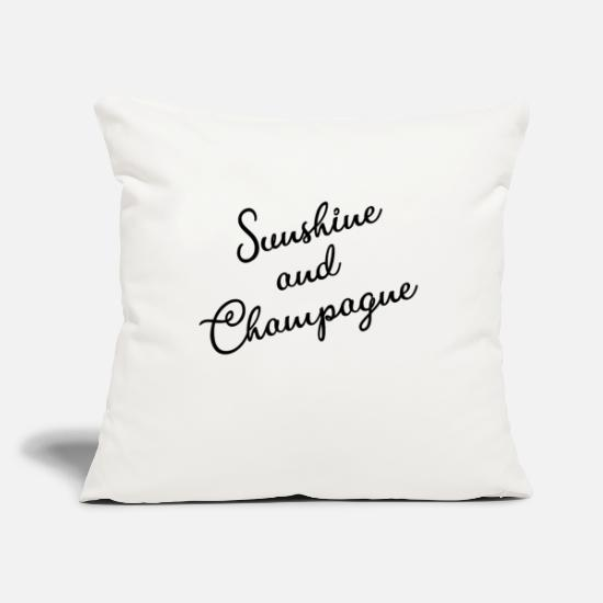 Alcohol Pillow Cases - Sunshine and Champagne - caviar and champagne - Pillowcase 17,3'' x 17,3'' (45 x 45 cm) natural white