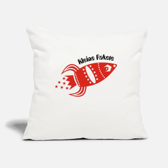 Gift Idea Pillow Cases - Small rocket - Pillowcase 17,3'' x 17,3'' (45 x 45 cm) natural white