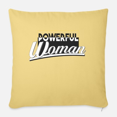 powerful woman - Pillowcase 17,3'' x 17,3'' (45 x 45 cm)