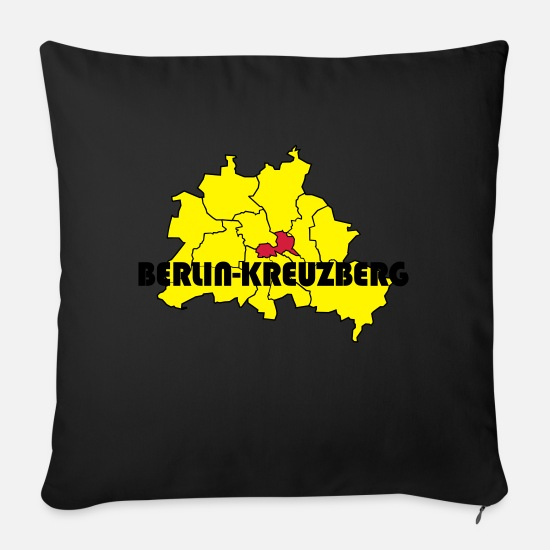 Proud Pillow Cases - Berlin Kreuzberg - Pillowcase 17,3'' x 17,3'' (45 x 45 cm) black