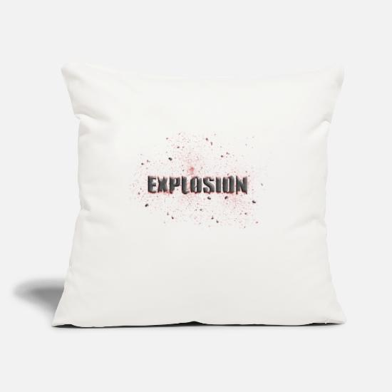 Broken Pillow Cases - explosion - Pillowcase 17,3'' x 17,3'' (45 x 45 cm) natural white