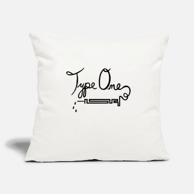 Type Type One Diabetes - Needle Design - Black - Pillowcase 17,3'' x 17,3'' (45 x 45 cm)