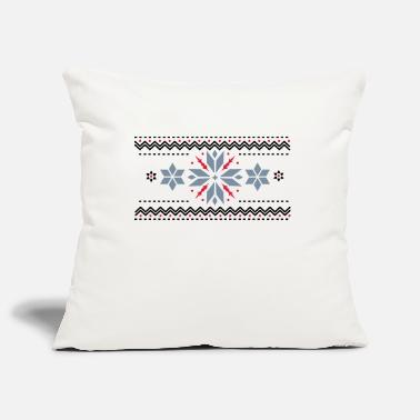 Stars Pattern Star pattern in the Norwegian style - Pillowcase 17,3'' x 17,3'' (45 x 45 cm)
