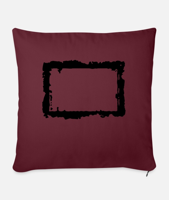 Border Pillow Cases - frame_4_vec_1 en - Pillowcase 17,3'' x 17,3'' (45 x 45 cm) burgundy