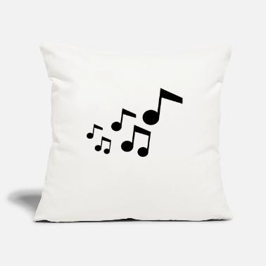 Music music notes - Pillowcase 17,3'' x 17,3'' (45 x 45 cm)