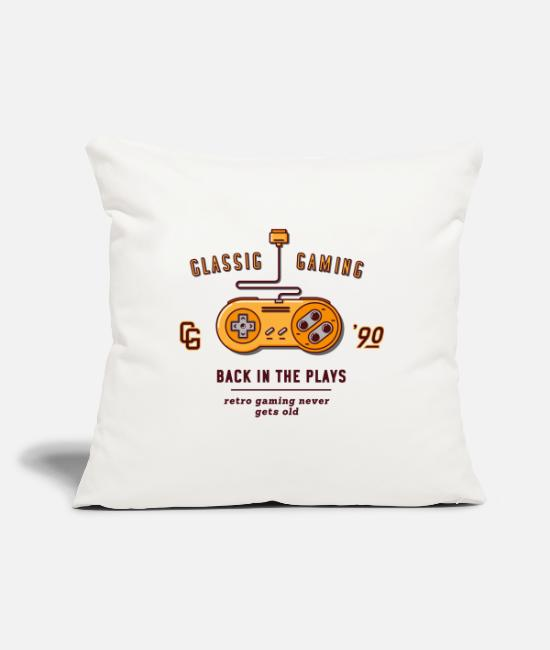 Game Pillow Cases - classic gaming - Pillowcase 17,3'' x 17,3'' (45 x 45 cm) natural white