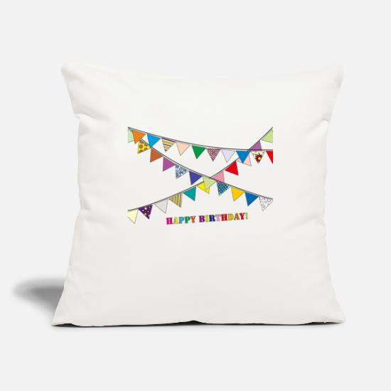 Birthday Pillow Cases - birthday party - Pillowcase 17,3'' x 17,3'' (45 x 45 cm) natural white