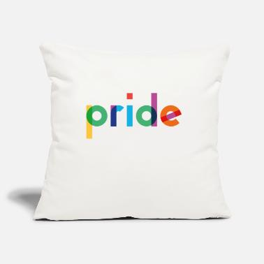 Pride - Rainbow Typography - Pillowcase 17,3'' x 17,3'' (45 x 45 cm)