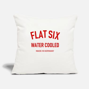 996 Flat Six - Water Cooled - Made in Germany - Boxer - Pillowcase 17,3'' x 17,3'' (45 x 45 cm)