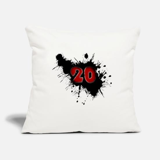 Happy Pillow Cases - Date of birth 20 years - Pillowcase 17,3'' x 17,3'' (45 x 45 cm) natural white
