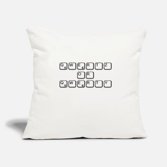 Qwerty Pillow Cases - qwertz or qwerty for nerds & geeks - Pillowcase 17,3'' x 17,3'' (45 x 45 cm) natural white