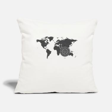 Map with compass 2 - Pillowcase 17,3'' x 17,3'' (45 x 45 cm)